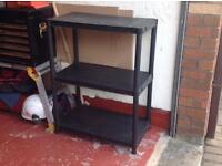 Three tier shelf unit