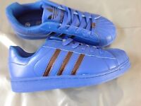 Mens adidas superstar trainers blue