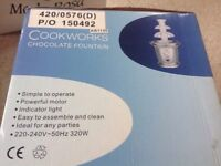 Cookworks chocolate fountain machine (used once)