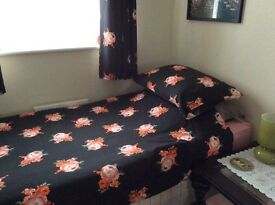 Matching Lined Eyelet Curtains, Single 3ft Duvet Cover, Matching Pillowcase and Clock.