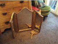 Vintage retro gold mirror