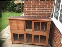 5ft Large Rabbit or Guinea Pig Hutch used but in good condition, two levels, 10 months old.