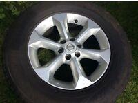 """17"""" Nissan Pathfinder Navara single alloy wheel"""