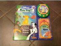 Disney story book with music player