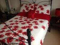 Iron bed and mattress