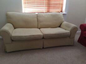 Laura Ashley cream sofa