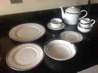 Marks and Spencer Platinum 24 piece Dinner Set and 21 piece Tea Set.