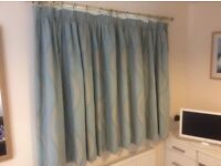 Good quality curtains with blackout linings - two pairs available