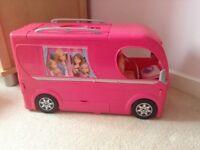 Barbie Pop Up Camper Van with all accessories