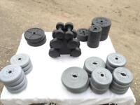136.85kg of Vinyl Weights (Delivery Available)