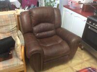 Leather rocker/recliner