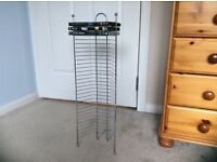 Chrome DVD rack for 30 DVDs or console games - perfect condition