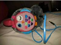 KitSound Winter Collection Audio Earmuffs for iPod, iPhone, iPad and MP3 Player - Pink Owl