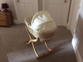 Baby rocking Moses basket