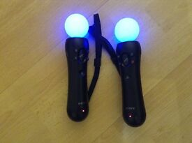 VR /PS 4 / PS3 MOVE MOTION CONTROLLER x 2 £55 PlayStation