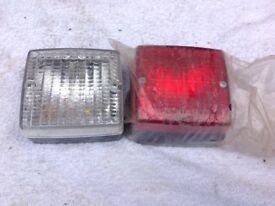 FOG LIGHT AND REVERSING LIGHT, UN-USED, 12v SUITABLE FOR TRAILER