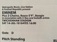 Eminem Tickets x 2 standing Twickenham Stadium sat 14th 2018, Coll Mildenhall able to split tickets