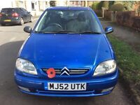 Citroen saxo 1.0 12 months MOT cheap tax & insurance