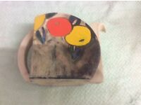 Vintage Clarice cliff tea pot no lid also vintage sugar bowel