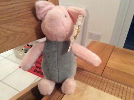 """9"""" Gund Classic Piglet as new £10 Dereham"""