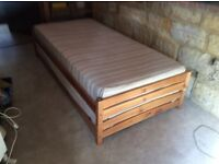Single stacking beds