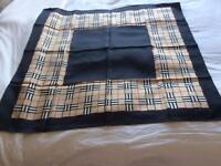 Genuine Silk Burberry Scarf - never worn