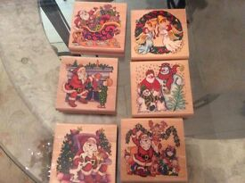 Christmas stamps for card and gift tag making