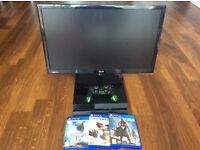 PS4 (Sony Playstation 4) + LG FullHD 24@ Monitor IPS LED + Overwatch + Destiny + Star Wars Games