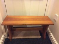 Pine wooden bench