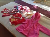 Fashion Duffle Jacket, Hat Scarves,Mitts 9-18 months