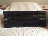 Technics CD player, Technics class A amplifier and pair of Mission speakers + all leads