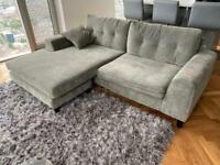 Grey L Shaped Corner Sofa