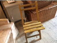 FOUR CHAIRS FOLD UP RUSTIC FRENCH FARMHOUSE COUNTRY STYLE PAINTED PINE GRAND CAFE PARIS X 4