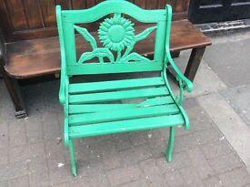Vintage cast iron chair