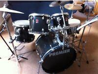 Premier Drum Kit with stool + 3 pairs of sticks & Practice Pad