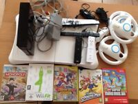 Wii console and board, games, controllers