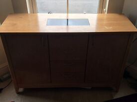 Black granite dining room sideboard cupboard