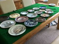 Collection of about 50 decorative wall plates