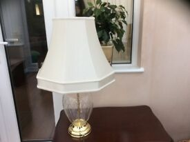 Glass cut table lamp