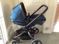 Pram/Push chair. Mothercare Orb. Colour Teal