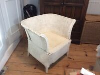 ANTIQUE RATTAN CHAIR SIUTABLE FOR CONSERVATORY OR BEDROOM