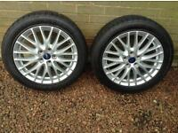 Ford alloys with winter tyres