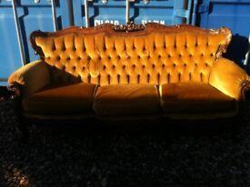 Ornate antique sofa- need some repairings-