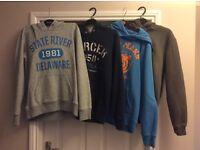 4 x Boys Hoodies (H&M, Saltrock) Age 12-13