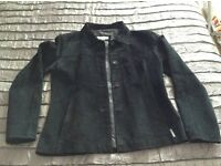 Ben Sherman black suede ladies jacket size 14