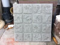 Concrete garden decorative slabs