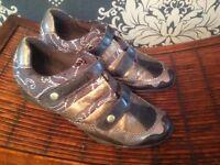 Ravel shoe trainer shades gold bronze Velcro fasten 4 worn few times