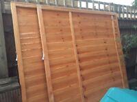 Timer fence panels