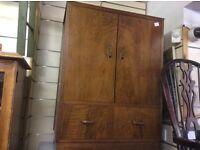 Solid wood vintage cupboard with drawer