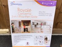 Brand new royale 3 in 1 baby gate and play pen